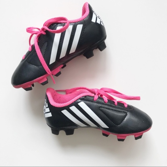 adidas Other - Adidas Kid s Black and Pink Soccer Cleats Sz. 11 169ac7bc7d38